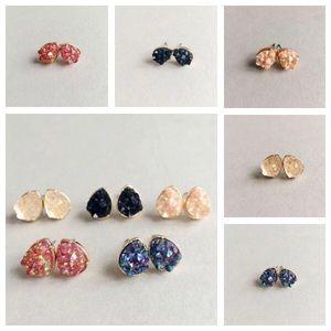 Jewelry - Tear Drop Druzy Stud Earring
